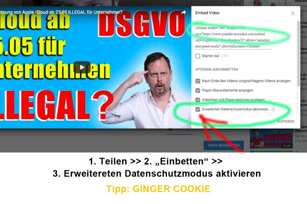 Youtube Videos unter der DSGVO rechtssicher einbinden