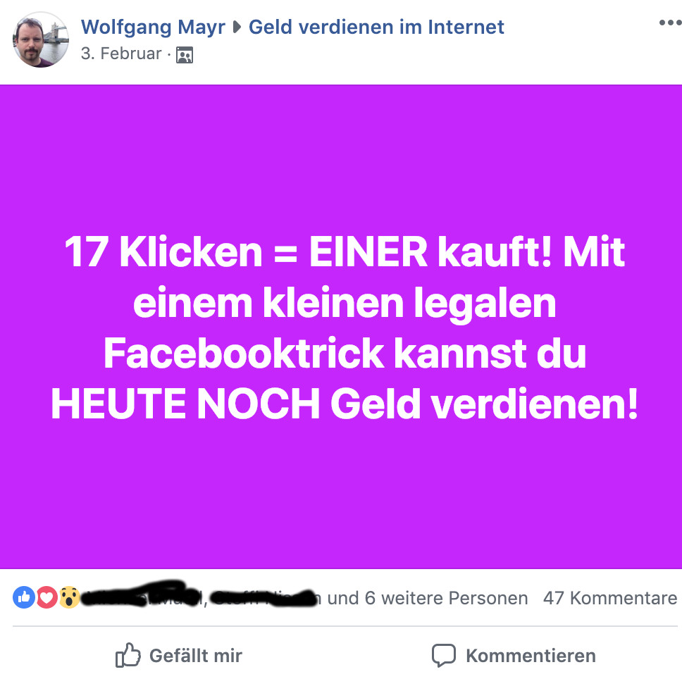Facebook 17 klicken