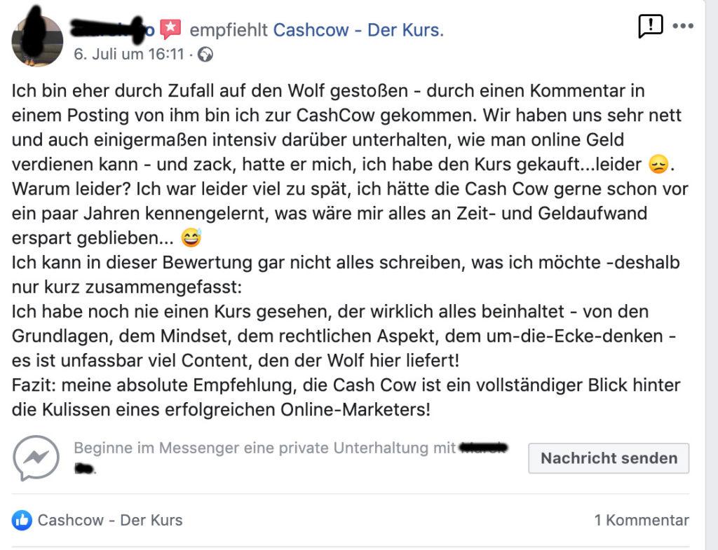 Facebook Cashcow Affiliate Marketing Erfahrungen