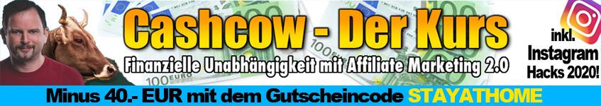 Geld verdienen von zu Hause aus mit der Cashcow!